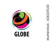 vector logo globe | Shutterstock .eps vector #626225132