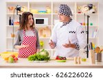 food cooking tv show in the... | Shutterstock . vector #626226026