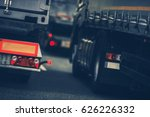 trucks heavy traffic on the... | Shutterstock . vector #626226332