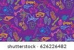hand drawn doodle summer... | Shutterstock .eps vector #626226482