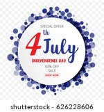 american independence day of...   Shutterstock .eps vector #626228606