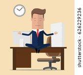 businessman meditation in... | Shutterstock .eps vector #626229236