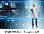 doctor in futuristic medical... | Shutterstock . vector #626238425