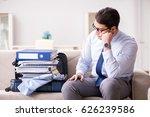 businessman preparing for the... | Shutterstock . vector #626239586
