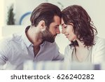 beautiful young woman and man... | Shutterstock . vector #626240282