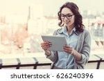 beautiful young business woman... | Shutterstock . vector #626240396