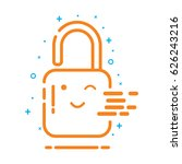 log in icon outline art vector  ...
