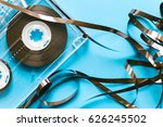 twisted audio tape and audio... | Shutterstock . vector #626245502