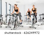 group of fit people training at ... | Shutterstock . vector #626249972