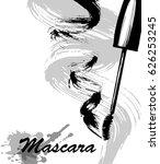 mascara and brush stroke vector ... | Shutterstock .eps vector #626253245