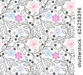 seamless pattern.spring pattern ... | Shutterstock .eps vector #626258396