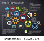 modern vector infographic... | Shutterstock .eps vector #626262176