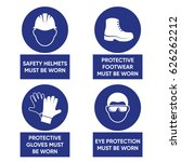 mandatory health safety signs... | Shutterstock .eps vector #626262212