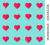 simple vector heart flat icons... | Shutterstock .eps vector #626262236