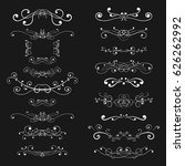 ornaments and decorative...   Shutterstock .eps vector #626262992