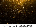 abstract gold bokeh with black... | Shutterstock . vector #626264702