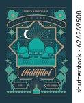 raya greeting template vector ... | Shutterstock .eps vector #626269508