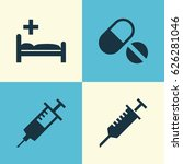 drug icons set. collection of... | Shutterstock .eps vector #626281046