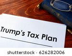 Small photo of Document with title Trump Tax Plan.