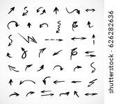 hand drawn arrows  vector set | Shutterstock .eps vector #626282636