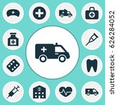 antibiotic icons set.... | Shutterstock .eps vector #626284052