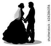 the bride and groom. the black... | Shutterstock .eps vector #626286356