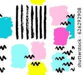 pattern of trendy geometric... | Shutterstock .eps vector #626292908