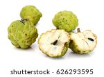 ripe sugar apple fruit with... | Shutterstock . vector #626293595