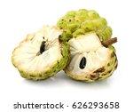 custard apple isolated on white ... | Shutterstock . vector #626293658