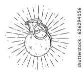hand drawn vector illustration... | Shutterstock .eps vector #626294156