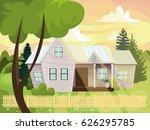 country house  farmstead  villa ... | Shutterstock .eps vector #626295785