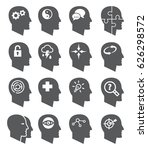 psychology icons | Shutterstock .eps vector #626298572