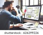 website development layout... | Shutterstock . vector #626299226