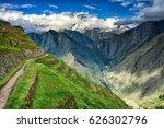 winayhuayna  inca ruins of...   Shutterstock . vector #626302796