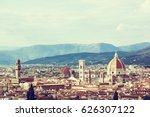florence is the capital city of ... | Shutterstock . vector #626307122