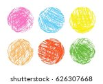 pencil and crayon like kid s... | Shutterstock .eps vector #626307668