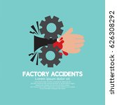 factory accidents concept...   Shutterstock .eps vector #626308292
