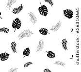 palm monstera leaves seamless... | Shutterstock .eps vector #626310665