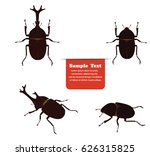 mushiking beetle male and... | Shutterstock .eps vector #626315825