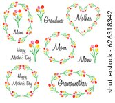happy mothers day set with... | Shutterstock .eps vector #626318342