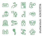 holding icons set. set of 16... | Shutterstock .eps vector #626323556