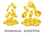 realistic gold coin stacks....