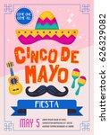 cinco de mayo mexican holiday... | Shutterstock .eps vector #626329082