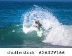 surfer. turn on the wave with... | Shutterstock . vector #626329166