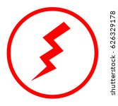 electricity icon. image style...   Shutterstock . vector #626329178