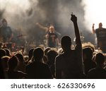 crowd of fans at an open air... | Shutterstock . vector #626330696