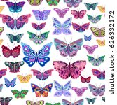 colorful abstract butterflies ... | Shutterstock .eps vector #626332172