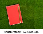 blank spiral note pad and... | Shutterstock . vector #626336636