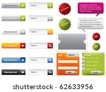 web design buttons and forms | Shutterstock .eps vector #62633956