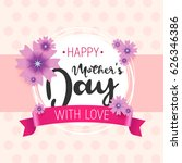 happy mother s day. vector.can... | Shutterstock .eps vector #626346386